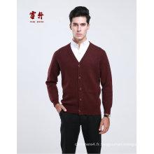 Yak Wool / Cachemire V Neck Cardigan Pull à manches longues / Cardigan / Vêtements / Tricots
