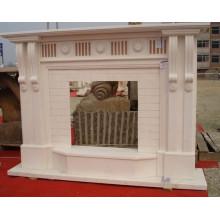 décoration de maison moderne pierre sculpture manteaux de cheminée en marbre