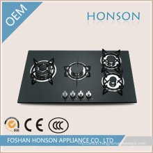 Built-in Competitive Tempered Glass 4 Burners Gas Cooker Stove