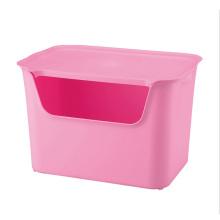 De moda de color puro contenedor de almacenamiento de plástico (SLSN003)