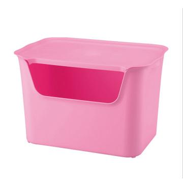 Recipiente de armazenamento de plástico de pura cor de moda (SLSN003)