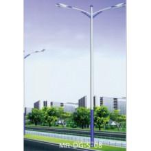 Lampe de 9 mètres pour le bras simple de réverbère de LED