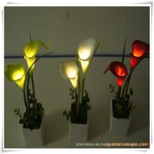 Mini Calla LED künstliche Blumen mit Keramik Topf für Promotion