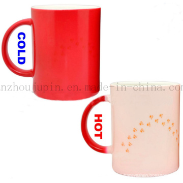 Custom Creative Magic Color Change Ceramic Mug for Promotional Gift