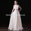 Vestido de noite frisado longo formal dos vestidos de banquete de casamento da flor do laço do OEM
