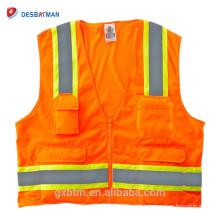 China Fornecedores Fluo Oi-vis Gilet Equipamento de Segurança Industrial Trabalhando Reflective Vest Rescue Vest Amarelo Laranja