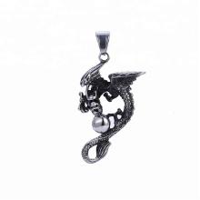 33496 xuping barato atacado design de moda jóias de aço inoxidável preto arma cor legal pingente