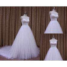Robe de soirée blanche avec Brocade