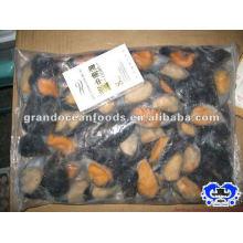mussel meat in half shell