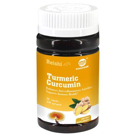 Turmeric Curcumin Capsules with Reishi Mushroom