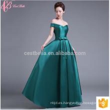 On Sale Cap Sleeve Estilo chino largo Satén vestido de dama de honor nupcial colorido vestido
