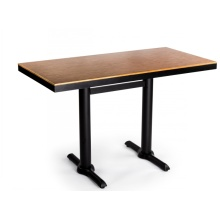 Square Fireproofing Laminate Plywood Restaurant Dining Table