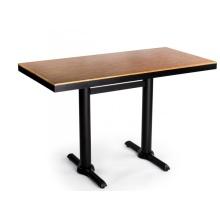 Mesa de comedor de restaurante de madera contrachapada laminada ignífuga cuadrada