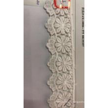 Tissu à broder en coton à huit pétales de fleurs ondulées