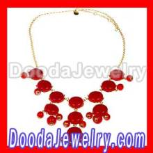 2012 Fashion Red Resin Bubble Necklace J Crew Jewelry Cheap
