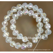 football shaped crystal glass beads