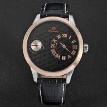 Alloy case stainless steel caseback date watch