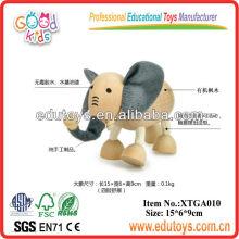 Brinquedos de Elefante de Madeira, Brinquedos e Presentes Pequenos para Crianças
