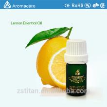 Huile essentielle de citron pure de marque privée avec parfum énergisant et exaltant