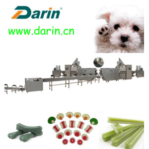 Pet Treat Dog Snack Extuding Machine Memproduksi Line