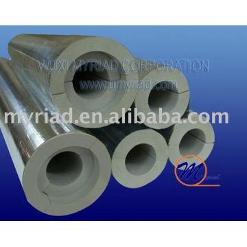 Feuille d'aluminium pour tube d'isolation en mousse phénolique