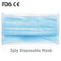 Disposable Nonwoven disapoable 3ply Non Medical Face Mask
