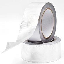 Tecido revestido à prova de fogo voltado para fita adesiva de folha de alumínio de fibra de vidro flexível