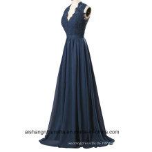 Frauen-Spitze-Sleeveless V-Ansatz Abend-Partei-Abschlussball-Kleid