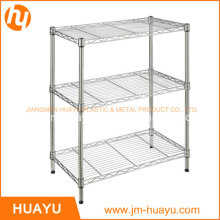 Kitchenware Homeware 3 Tier Adjustable Wire Shelving Unit Storage Shelf