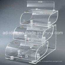 Специальный дизайн акриловая стойка дисплея для Промотирования супермаркета продуктов питания (УГ-33)