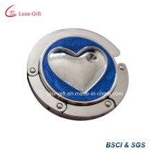 Heart Design Zinc Alloy Metal Purse Hanger for Desk
