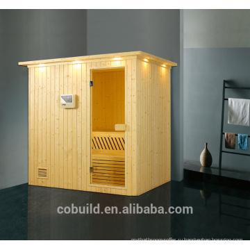 К-715 новый дизайн твердой древесины сауна retangular образная паровая сауна, сухая сауна, паровая баня