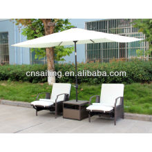 Popular Patio Waterproof cafe tables with umbrella