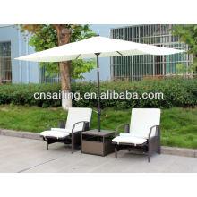 Популярные патио Водонепроницаемые столы для кафе с зонтиком