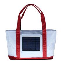 Sac de plage solaire avec panneau solaire de 2,4W, sac à dos de 2000 mah sac à dos avec système solaire