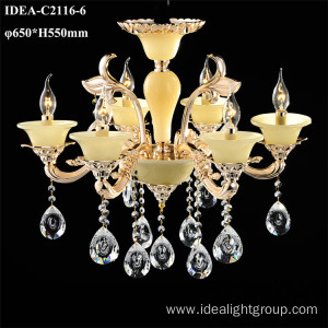 contemporary candle lighting metal pendant chandeliers
