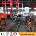 3-in-1 Intergrated H beam assembling welding and straightening integral machine H beam production line