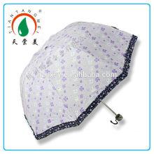 Mode Blumendruck Folding Umbrella für Mädchen
