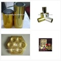 PVC Golden Film for Chocolate Blister Pacaking