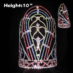 Coronas coloridas del desfile del arco iris de 10 pulgadas