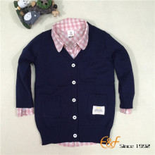 Hot Selling Basic Plain Computer Knitted Boys Cardigan Sweater
