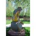 large outdoor sculptures metal craft nude woman bronze sculpture