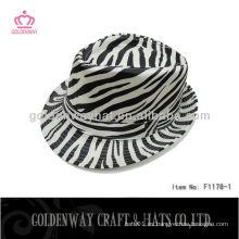 Sombrero de Trilby de la Cebra-raya de la moda