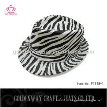 Мода Зебра-полоса Trilby Hat