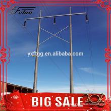 11M 12M Горячая оцинкованная сталь восьмиугольная электрическая стальная башня полюса
