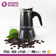 Venta al por mayor reutilizable de acero inoxidable 6 taza Stovetop Espresso Moka Coffee Maker en línea