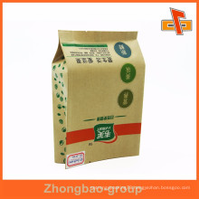 Manufacturer side gusset kraft paper custom walnut bags quad seal type