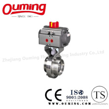 Sanitary Pneumatic Butterfly Valve with Thread End