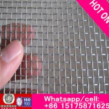 Malla de alambre de aluminio 18 * 18 con revestimiento de epoxi (negro, gris)