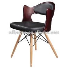 Sperrholz Restaurant Stuhl Gute Qualität Esszimmerstuhl mit Holzbeinen